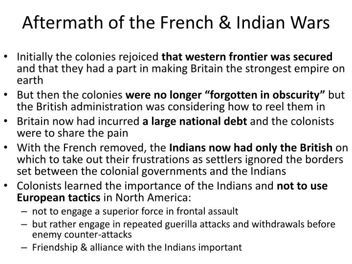 Aftermath of the French & Indian Wars