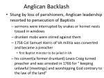 anglican backlash