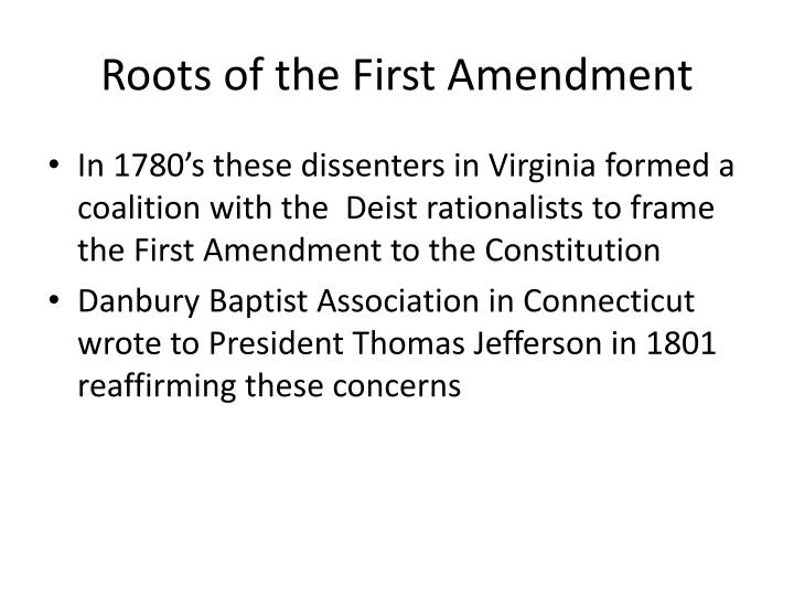 Roots of the First Amendment