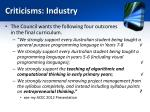 criticisms industry1
