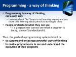 programming a way of thinking