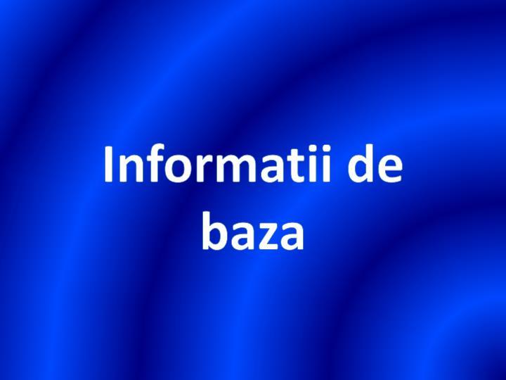 Informatii de