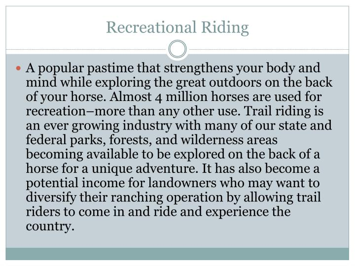 Recreational Riding