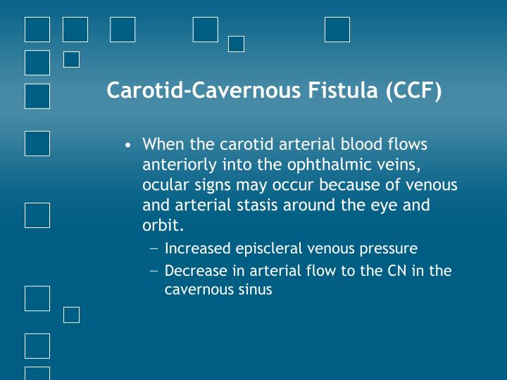 Carotid-Cavernous Fistula (CCF)