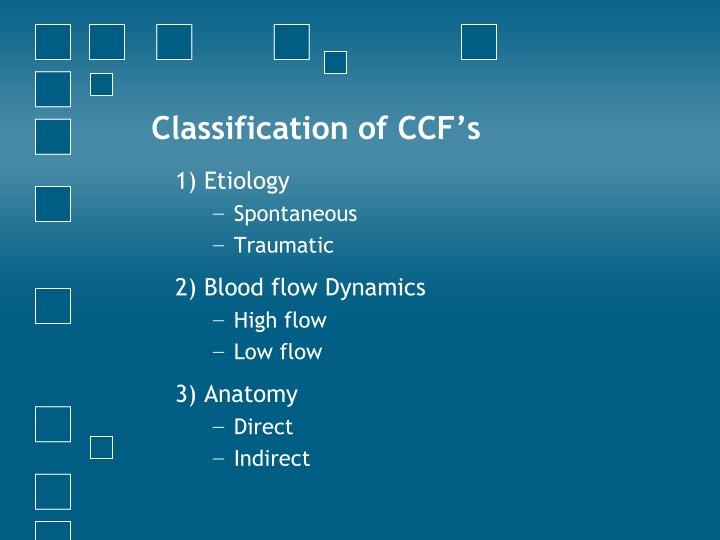 Classification of CCF's