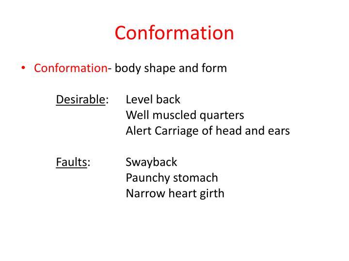 Conformation