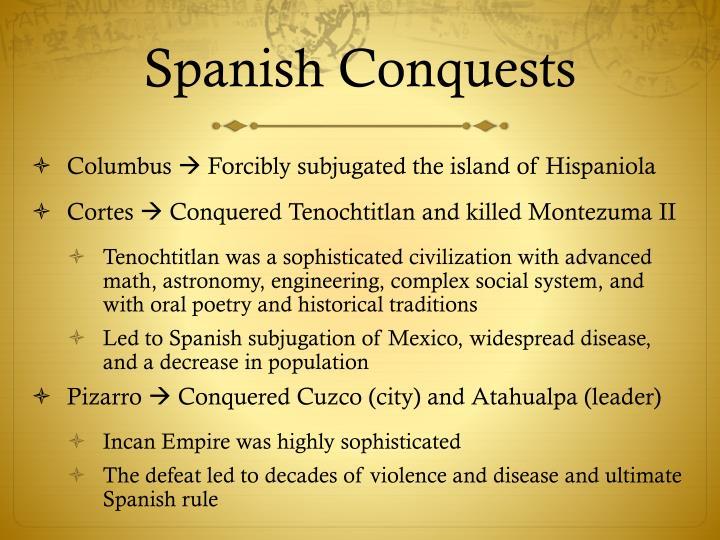 Spanish Conquests