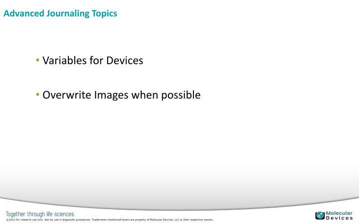 Advanced Journaling Topics