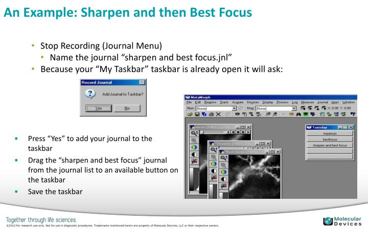 An Example: Sharpen and then Best Focus
