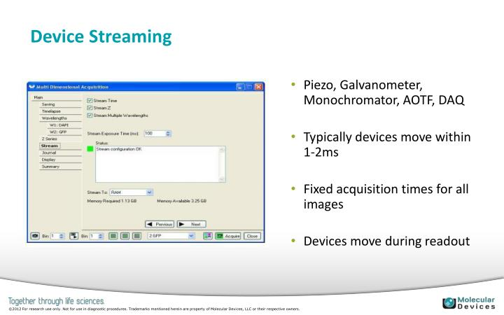 Device Streaming