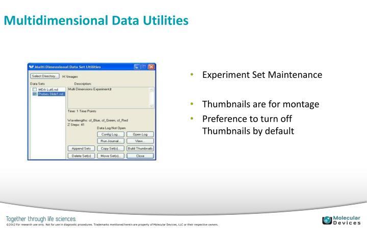 Multidimensional Data Utilities