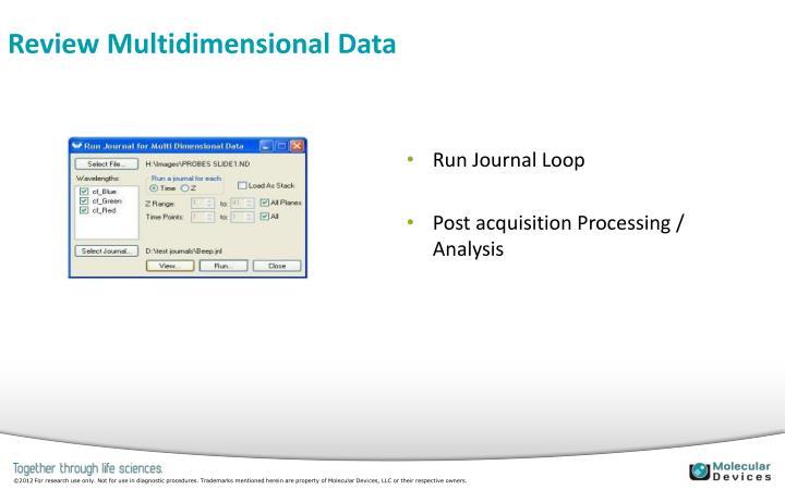 Review Multidimensional Data