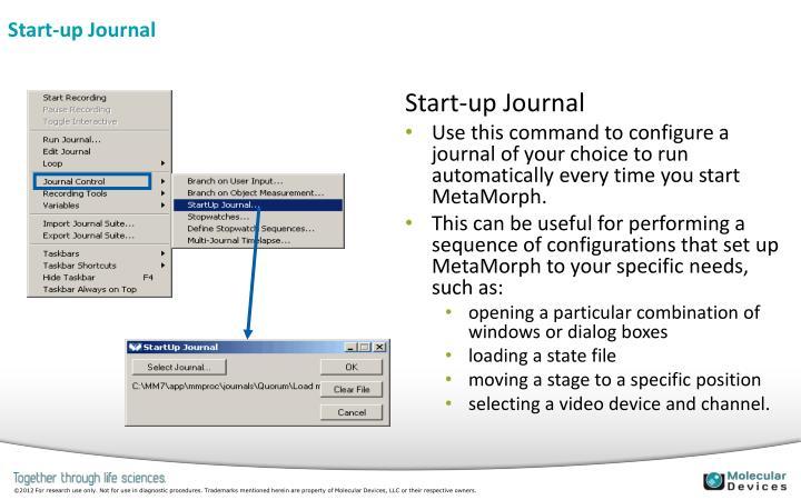Start-up Journal