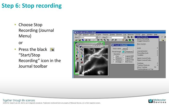 Step 6: Stop recording