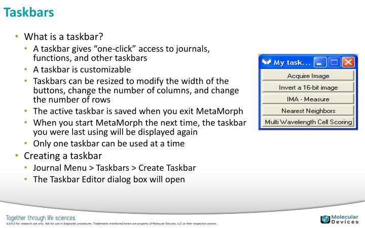 Taskbars