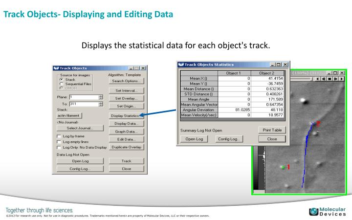 Track Objects- Displaying and Editing Data
