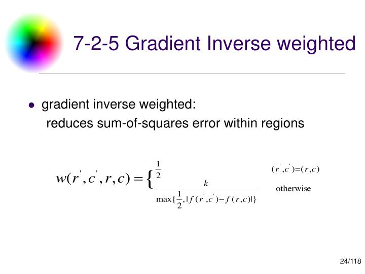 7-2-5 Gradient Inverse weighted