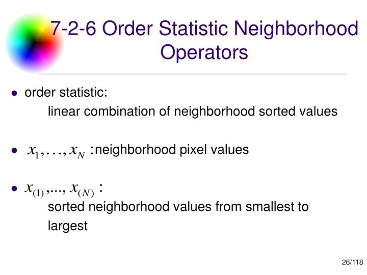 7-2-6 Order Statistic Neighborhood Operators