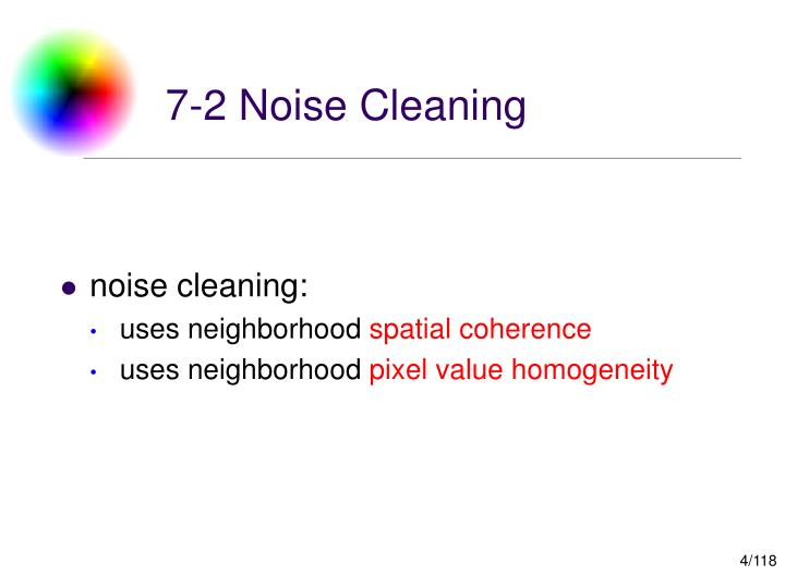 7-2 Noise Cleaning