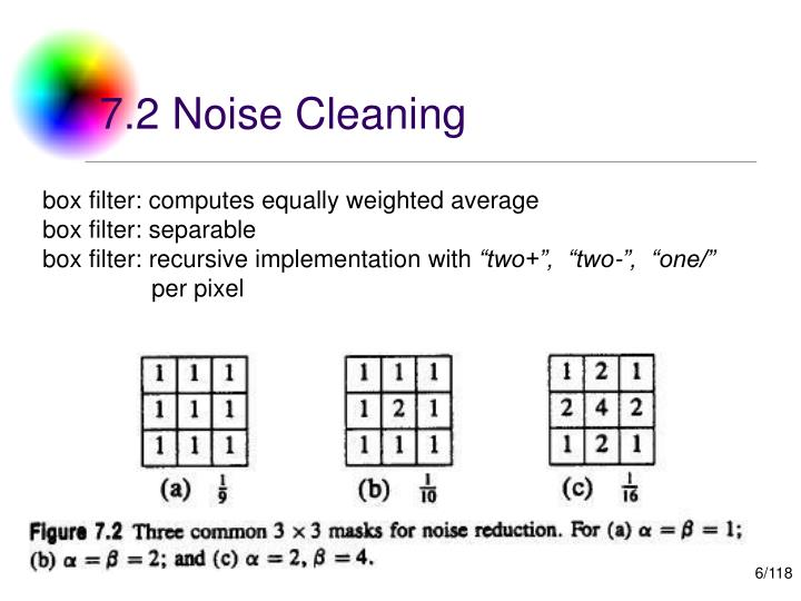 7.2 Noise Cleaning