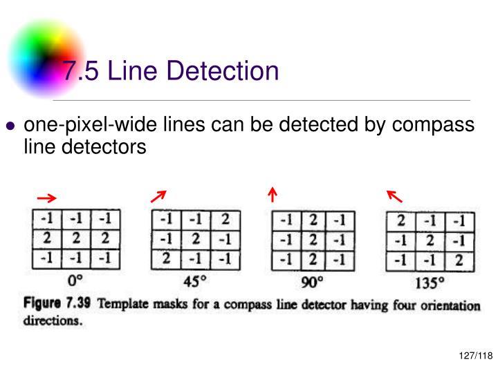 7.5 Line Detection