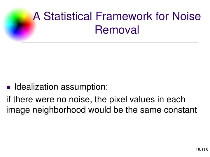 A Statistical Framework for Noise Removal