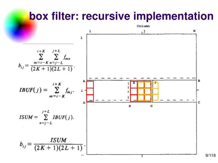 box filter: