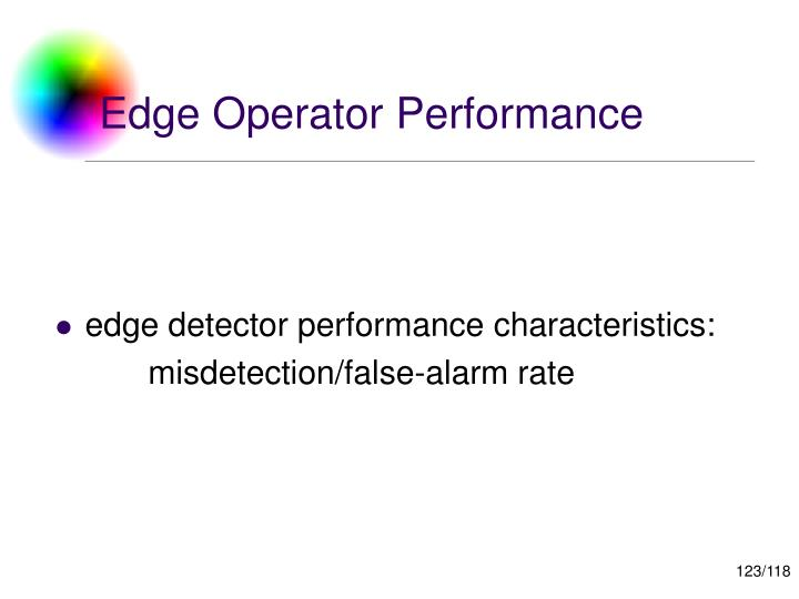 Edge Operator Performance