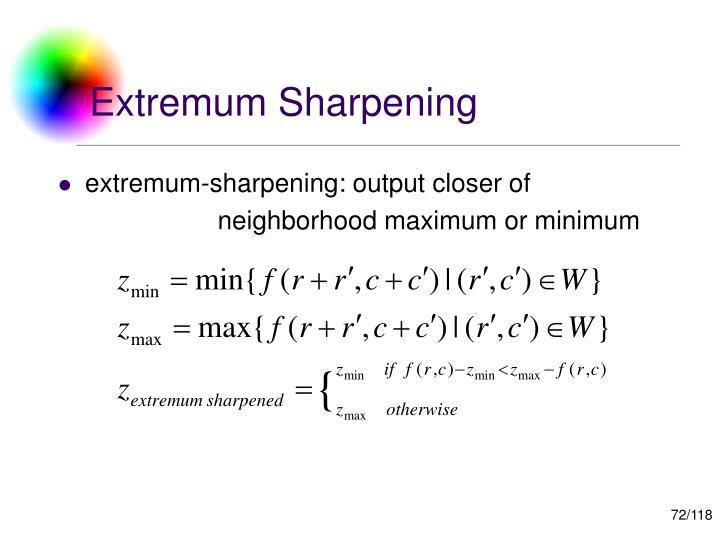 Extremum Sharpening