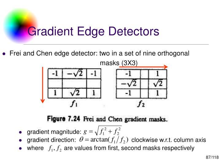 Gradient Edge Detectors