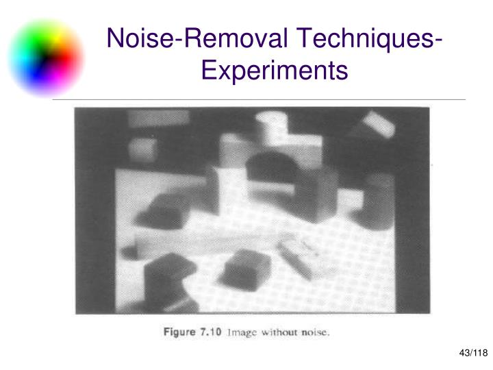 Noise-Removal Techniques-Experiments
