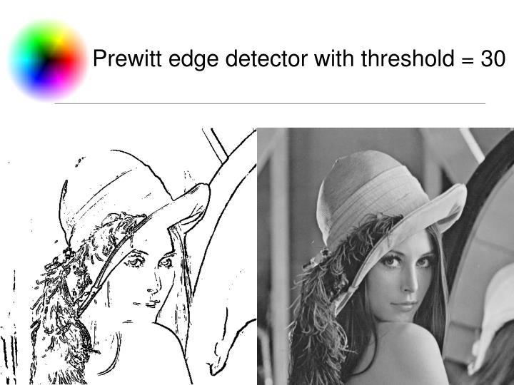 Prewitt edge detector