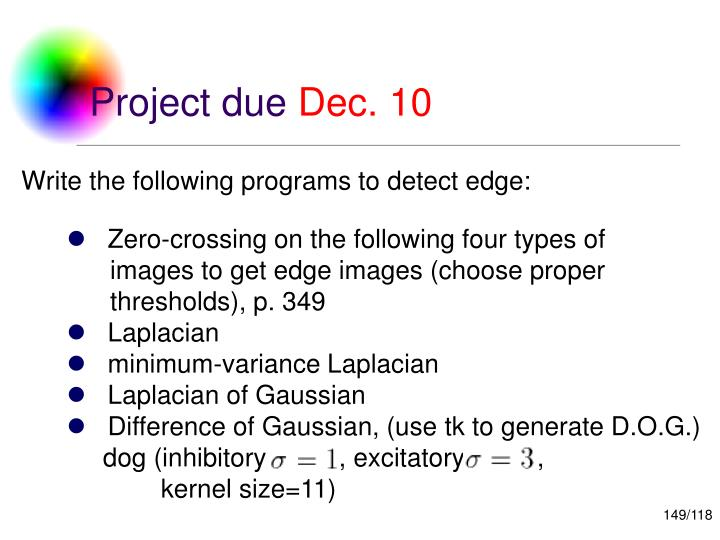 Write the following programs to detect edge: