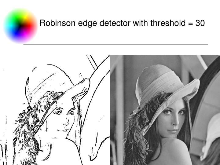 Robinson edge detector