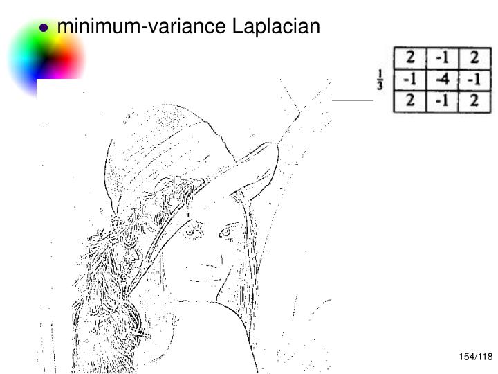 minimum-variance Laplacian