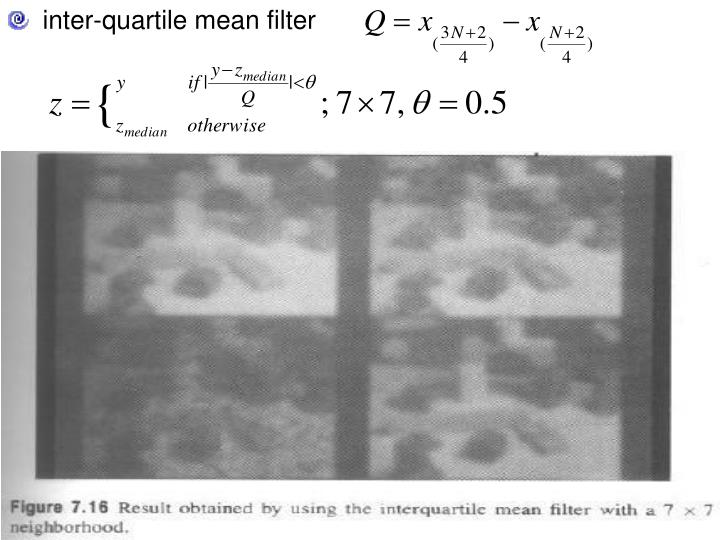 inter-quartile mean filter