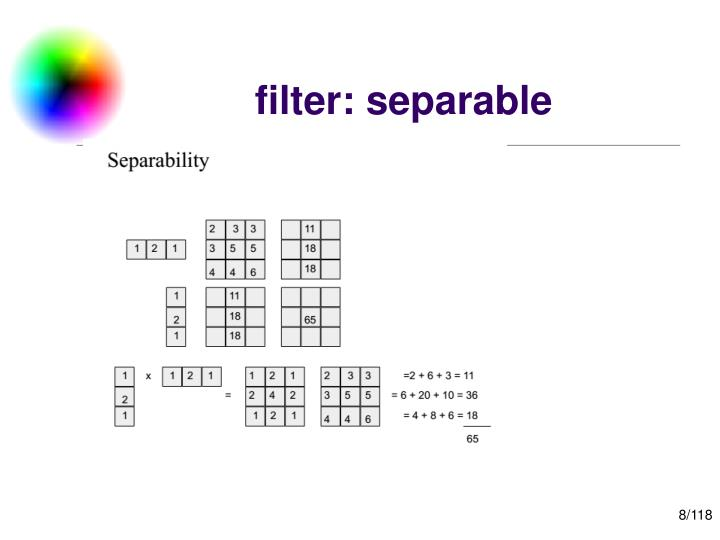 filter: separable