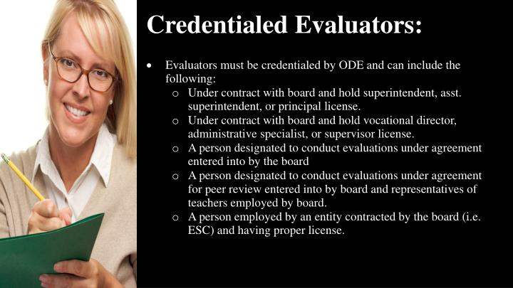 Credentialed Evaluators