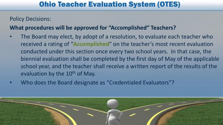 Ohio Teacher Evaluation System (OTES)