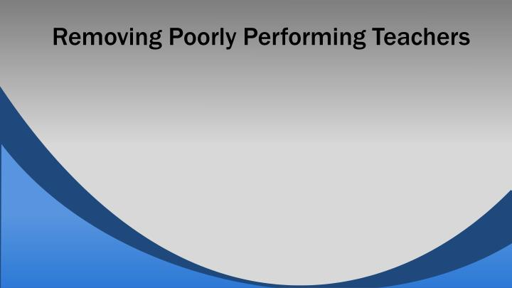 Removing Poorly Performing Teachers
