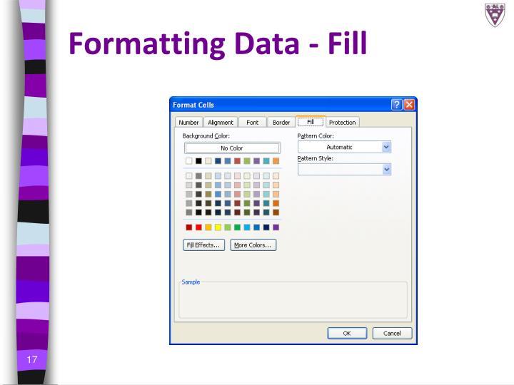 Formatting Data -