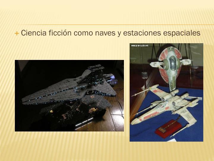 Ciencia ficción como naves y estaciones espaciales