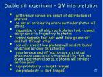 double slit experiment qm interpretation