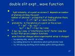 double slit expt wave function