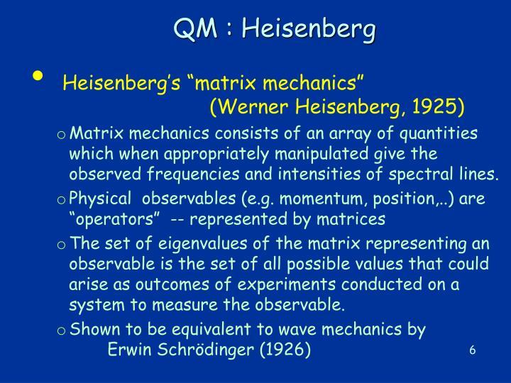 QM : Heisenberg