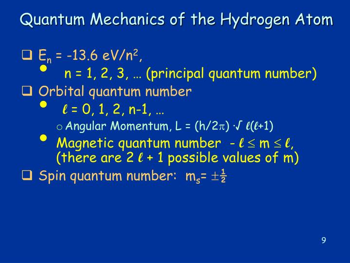 Quantum Mechanics of the Hydrogen Atom