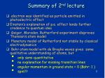 summary of 2 nd lecture