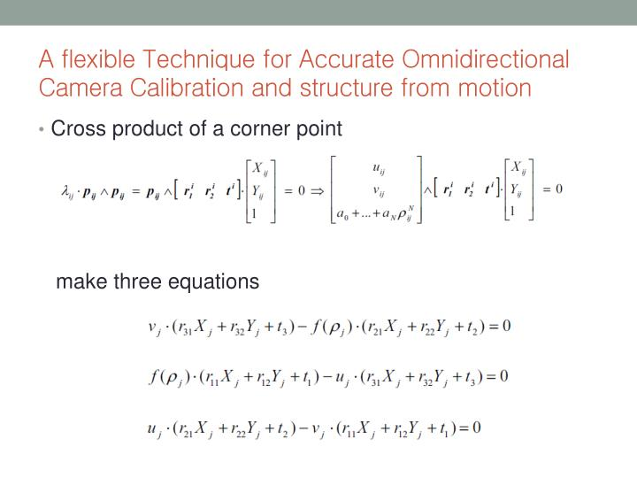 A flexible Technique for Accurate Omnidirectional Camera Calibration and structure from