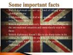 some important facts