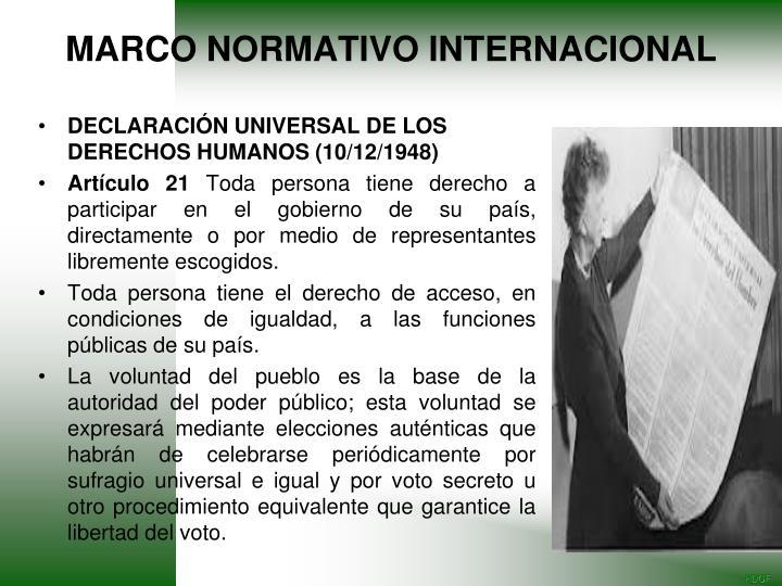 DECLARACIÓN UNIVERSAL DE LOS DERECHOS HUMANOS (10/12/1948)
